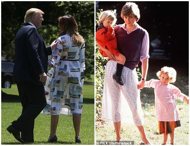 Đệ nhất phu nhân Mỹ gây sốt truyền thông khi thể hiện tình cảm với ông Trump và tái hiện lại khoảnh khắc ấn tượng này của Công nương Diana quá cố - Ảnh 1.