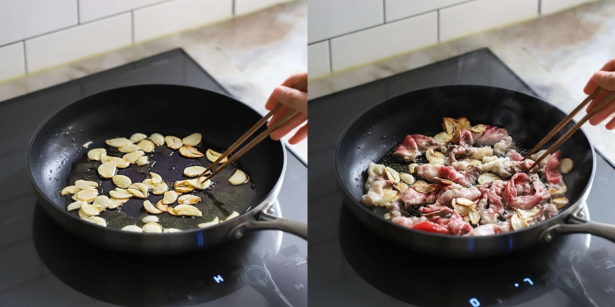 Mì xào bò kiểu Hàn ngon miệng dễ làm - Ảnh 2.