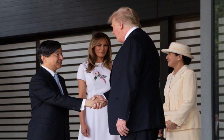 Vợ chồng Tổng thống Trump gặp tân Hoàng đế Nhật Bản, Hoàng hậu Masako khiến nhiều người kinh ngạc khi xuất hiện với hình ảnh hoàn hảo hơn mong đợi - Ảnh 1.