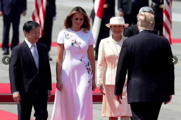 Vợ chồng Tổng thống Trump gặp tân Hoàng đế Nhật Bản, Hoàng hậu Masako khiến nhiều người kinh ngạc khi xuất hiện với hình ảnh hoàn hảo hơn mong đợi - Ảnh 3.