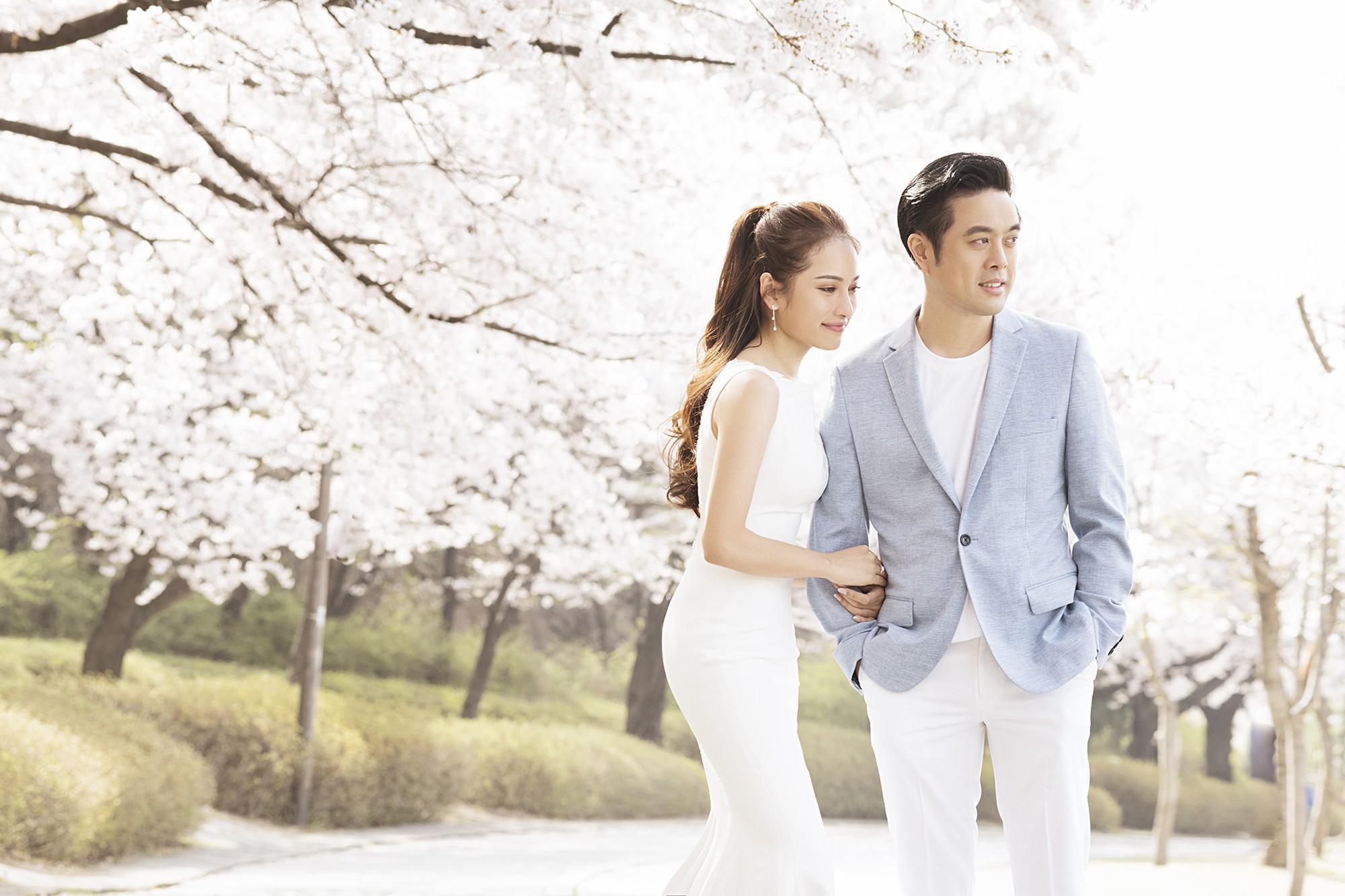 Ảnh cưới đẹp như phim chụp tại Hàn Quốc của Dương Khắc Linh và vợ trẻ kém 13 tuổi - Ảnh 4.
