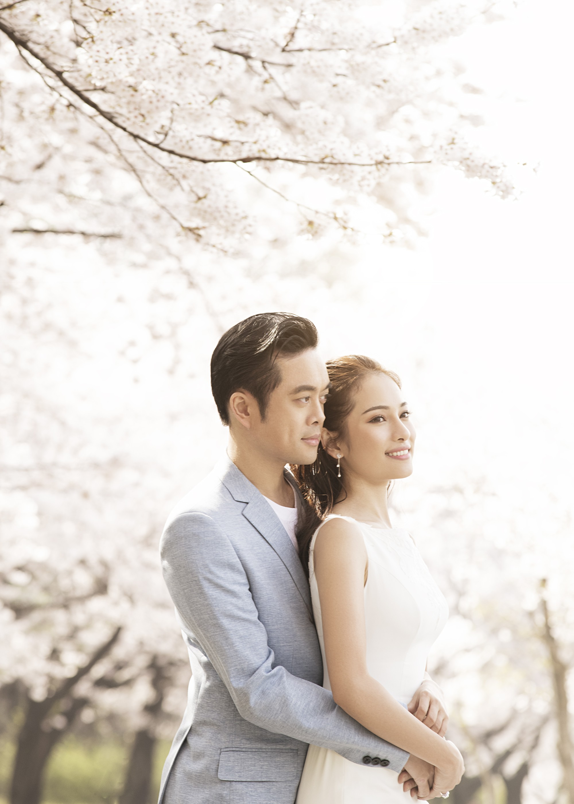 Ảnh cưới đẹp như phim chụp tại Hàn Quốc của Dương Khắc Linh và vợ trẻ kém 13 tuổi - Ảnh 5.