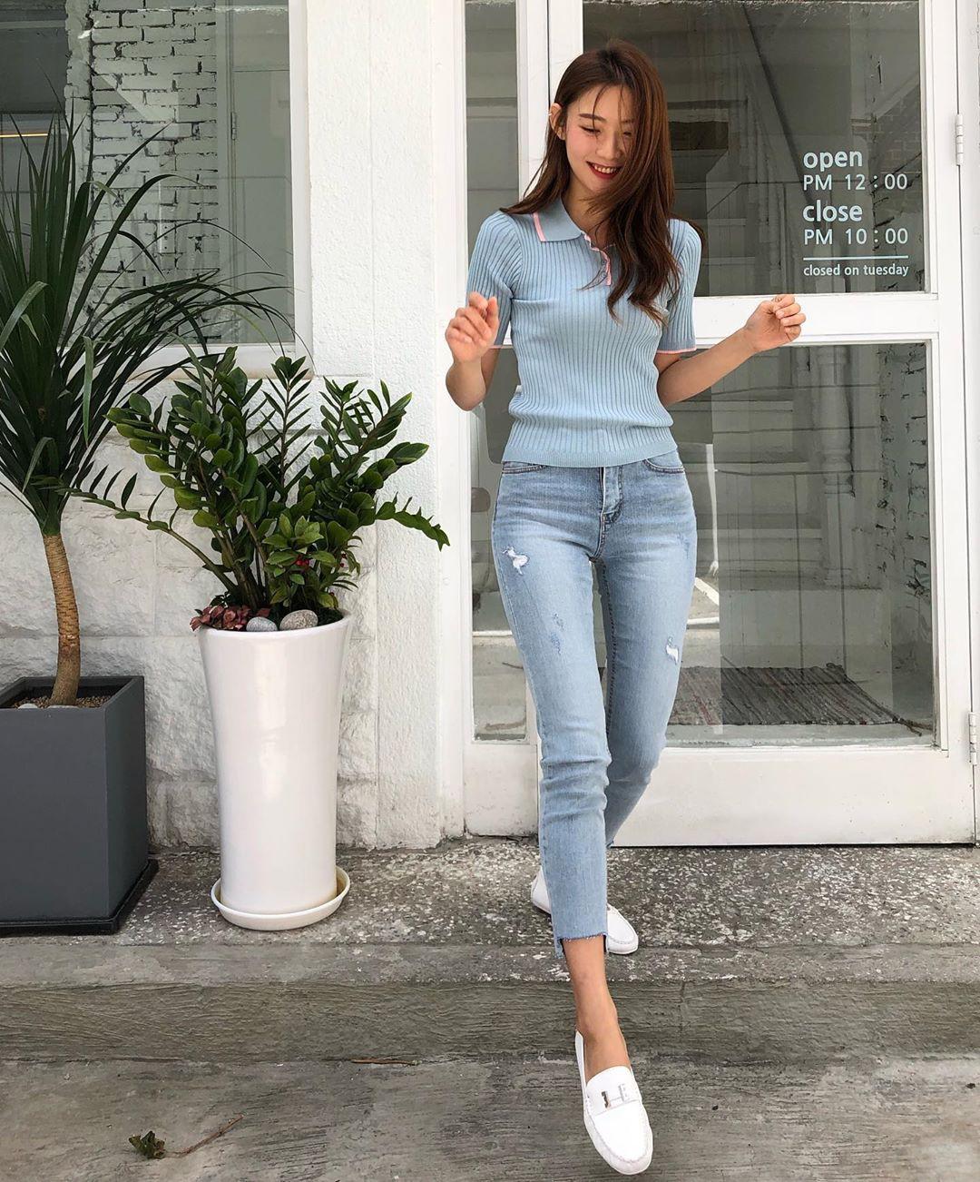 Nô nức diện váy thô mùa hè cho mát, muốn mặc đẹp hãy tham khảo 15 bộ đồ từ street style Châu Á này - Ảnh 5.