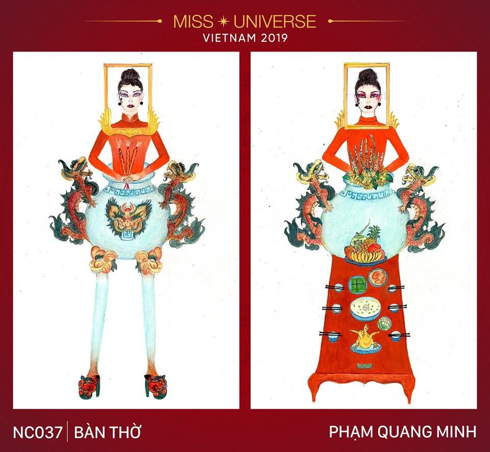 Hoàng Thùy không chỉ có trang phục Bàn Thờ, còn cả thiết kế chuồn chuồn, trâu hay cà phê phin để cân nhắc - Ảnh 1.