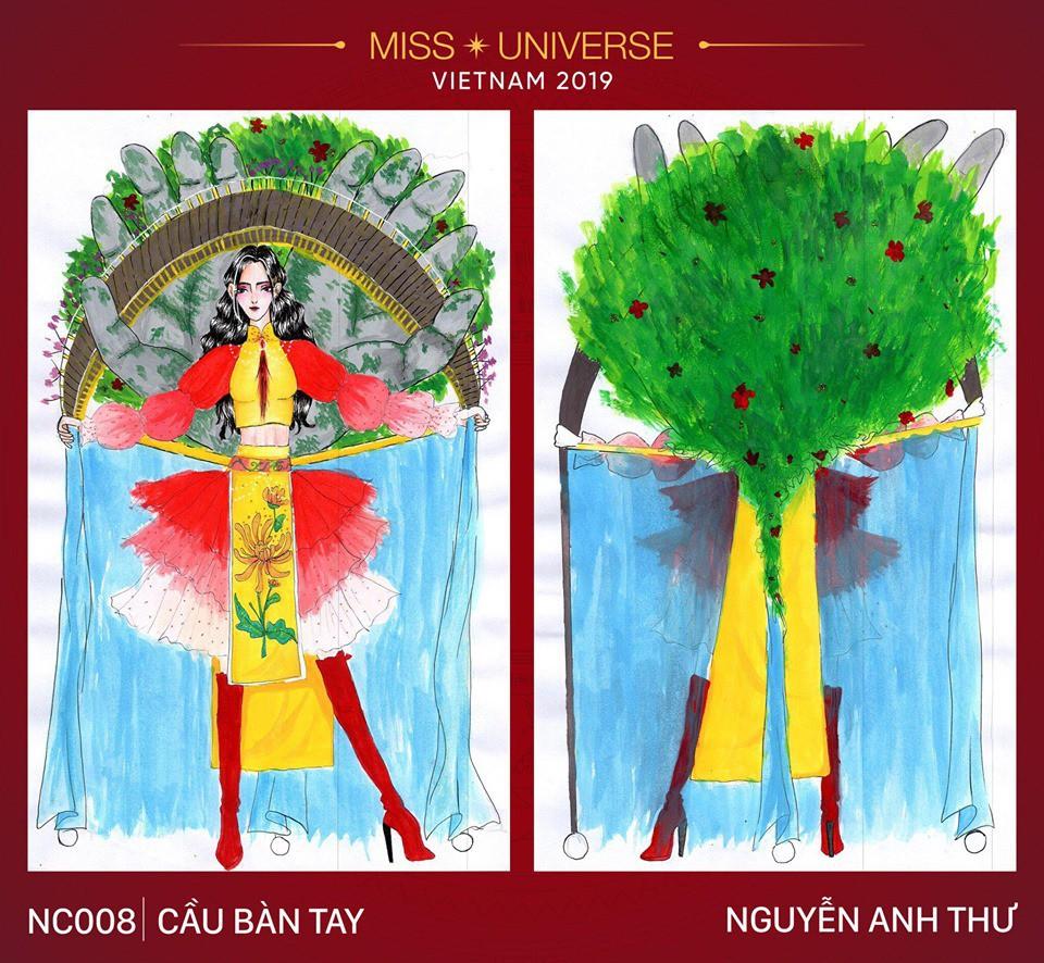Hoàng Thùy không chỉ có trang phục Bàn Thờ, còn cả thiết kế chuồn chuồn, trâu hay cà phê phin để cân nhắc - Ảnh 10.