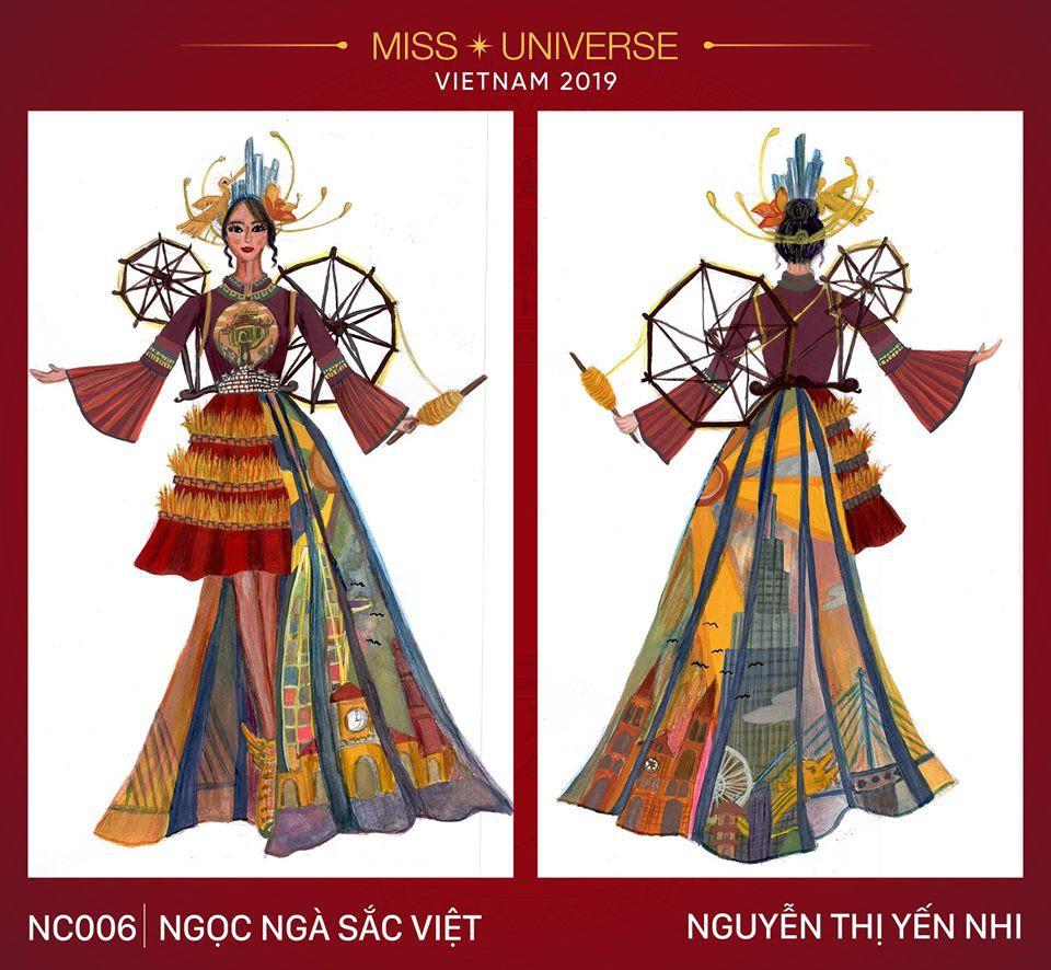 Hoàng Thùy không chỉ có trang phục Bàn Thờ, còn cả thiết kế chuồn chuồn, trâu hay cà phê phin để cân nhắc - Ảnh 12.