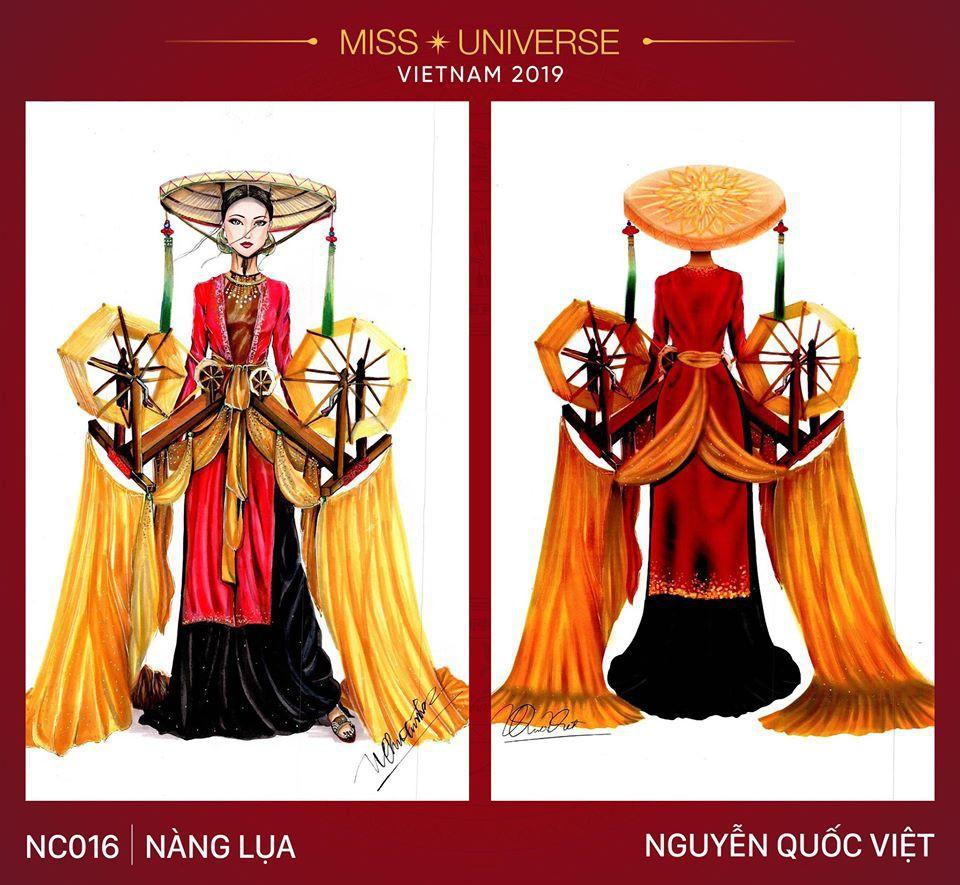 Hoàng Thùy không chỉ có trang phục Bàn Thờ, còn cả thiết kế chuồn chuồn, trâu hay cà phê phin để cân nhắc - Ảnh 2.