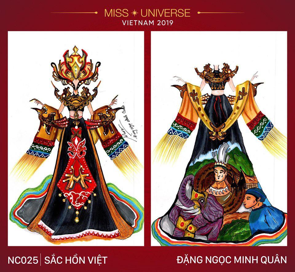 Hoàng Thùy không chỉ có trang phục Bàn Thờ, còn cả thiết kế chuồn chuồn, trâu hay cà phê phin để cân nhắc - Ảnh 7.