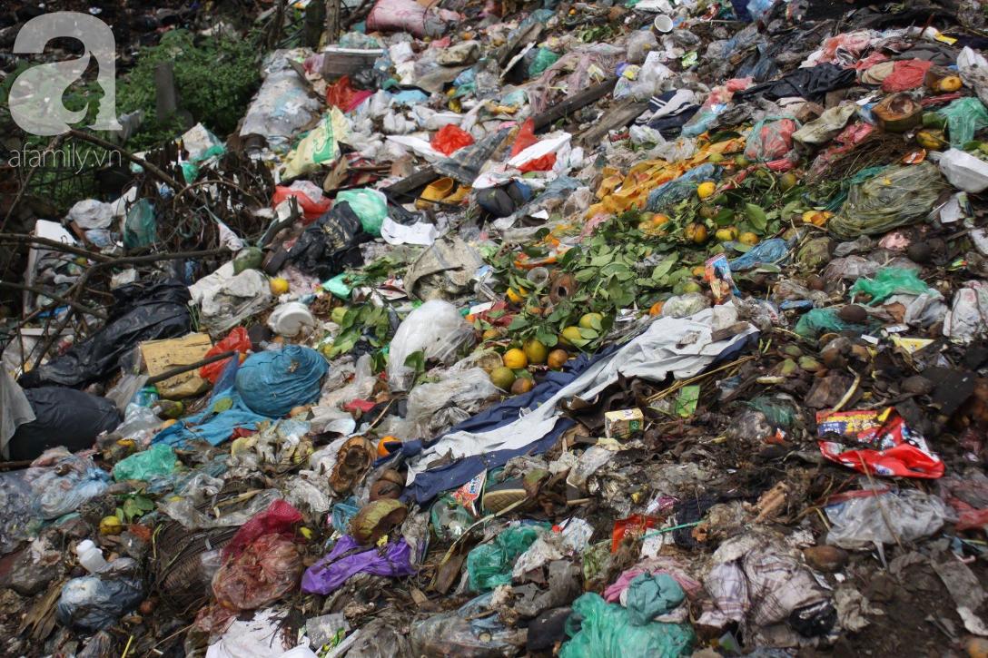 Hà Nội: Cận cảnh núi rác khổng lồ bốc mùi hôi thối nồng nặc dưới chân cầu Long Biên - Ảnh 15.