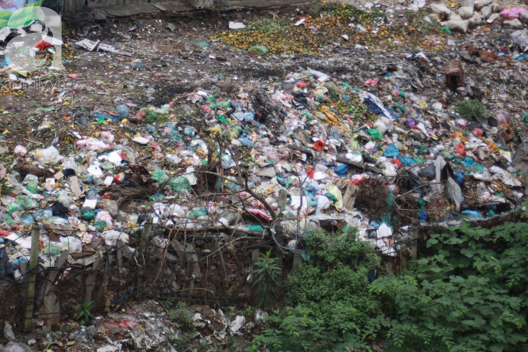 Hà Nội: Cận cảnh núi rác khổng lồ bốc mùi hôi thối nồng nặc dưới chân cầu Long Biên - Ảnh 17.