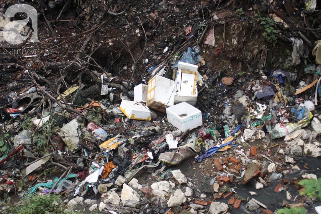 Hà Nội: Cận cảnh núi rác khổng lồ bốc mùi hôi thối nồng nặc dưới chân cầu Long Biên - Ảnh 5.
