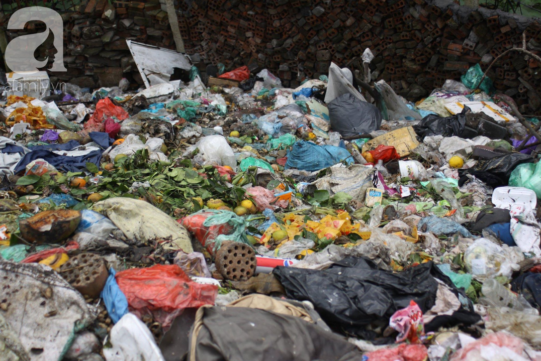 Hà Nội: Cận cảnh núi rác khổng lồ bốc mùi hôi thối nồng nặc dưới chân cầu Long Biên - Ảnh 6.