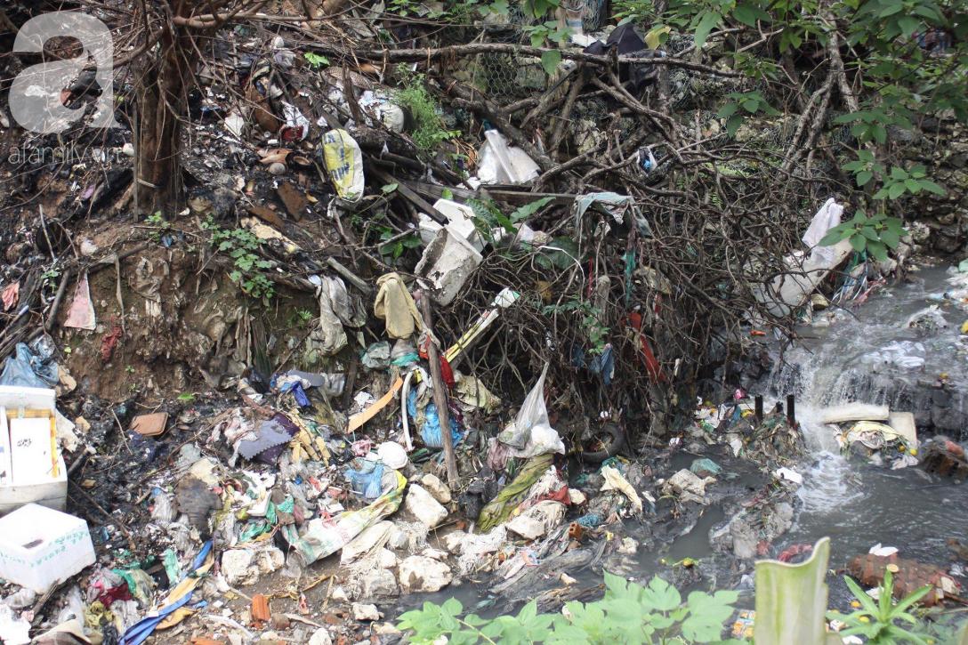 Hà Nội: Cận cảnh núi rác khổng lồ bốc mùi hôi thối nồng nặc dưới chân cầu Long Biên - Ảnh 8.