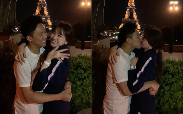 Trấn Thành - Hari Won kỷ niệm 1200 ngày yêu nhau bằng màn hôn đắm đuối dưới tháp Eiffels nhưng lại bất ngờ bị phá đám vì điều này - Ảnh 2.