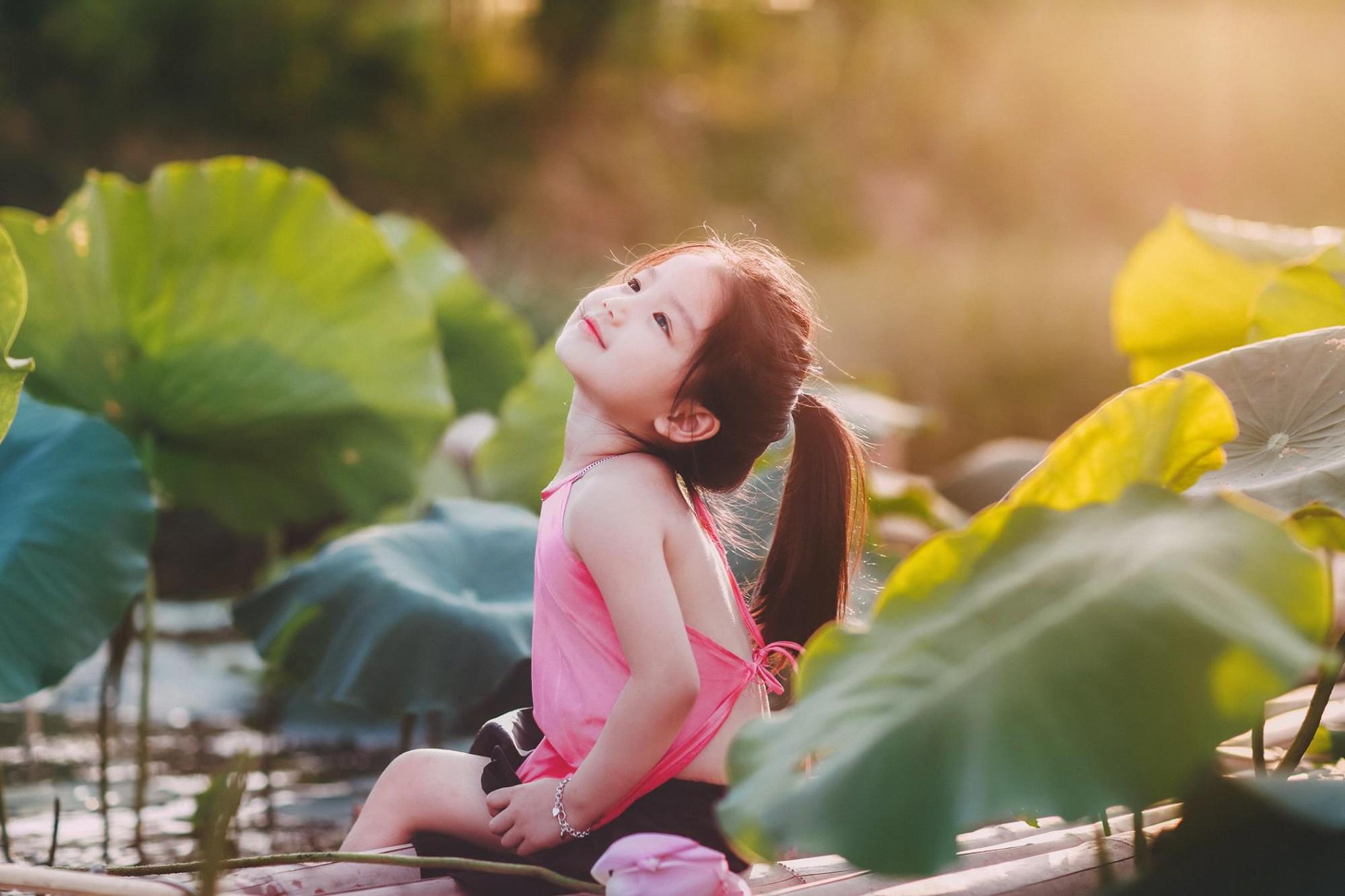 """Giữa """"cơn bão"""" tranh cãi về trào lưu chụp ảnh ở hồ sen, bộ ảnh em bé với hoa sen trong trẻo khiến các mẹ mê mẩn - Ảnh 6."""