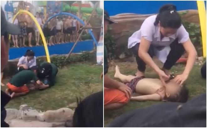Công viên nước Thanh Hà tạm dừng hoạt động sau sự cố bé trai đuối nước, nhiều gia đình từ xa đến đành quay về - Ảnh 6.