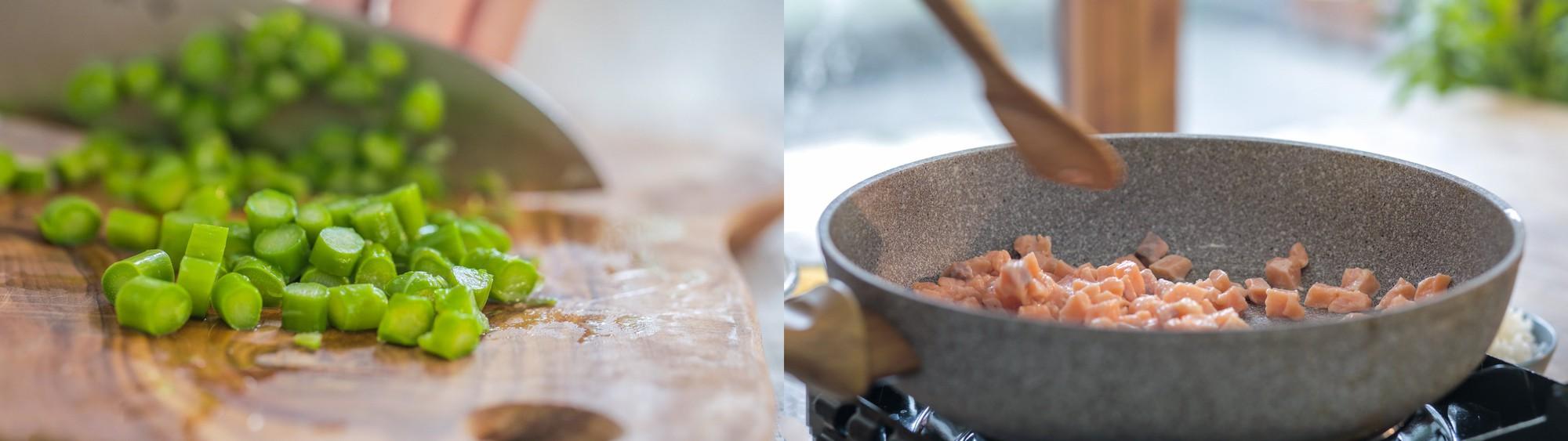 Thứ 2 bận rộn, tôi làm chảo cơm chiên cá hồi cho cả nhà là ngon lành đủ chất