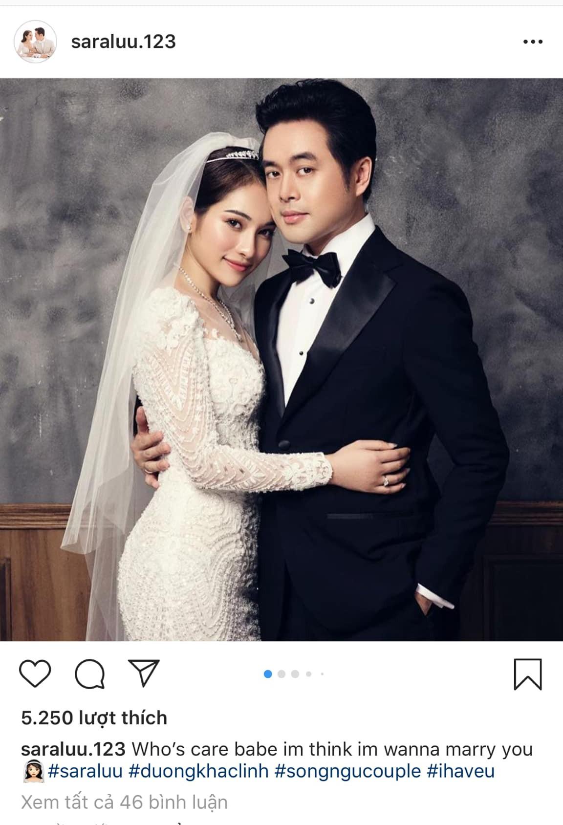 Sara Lưu hạnh phúc viết một câu mừng ngày cưới, dân mạng chỉ cười bò vì… chả ai hiểu - Ảnh 1.