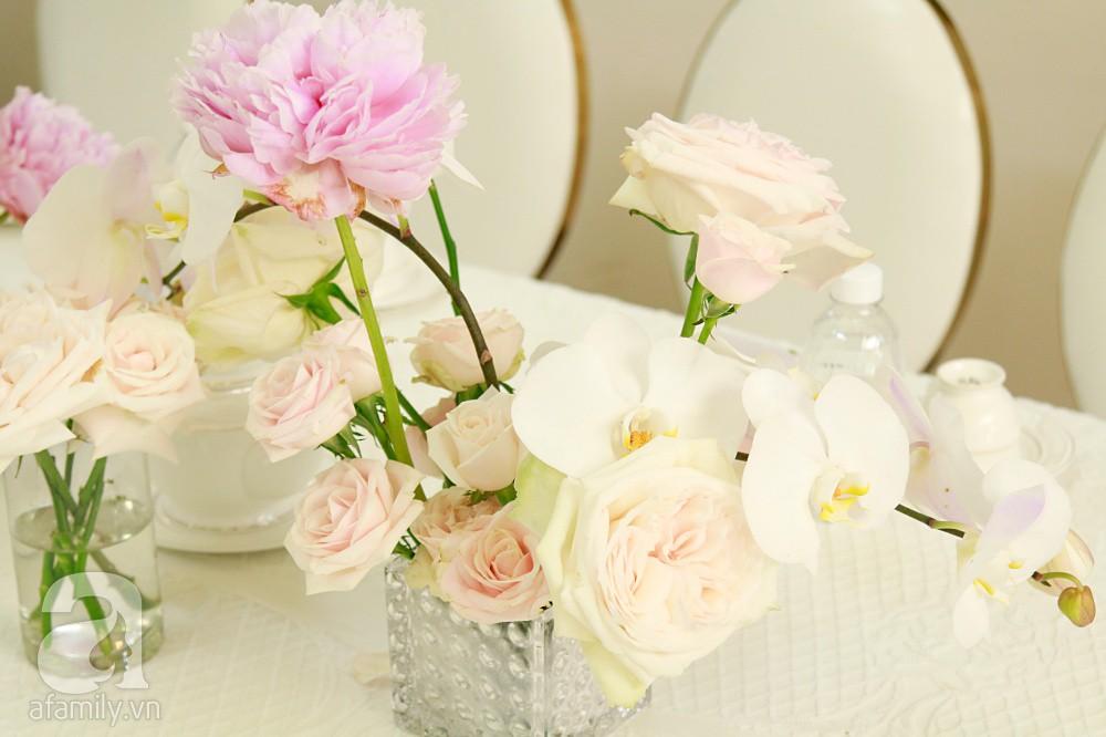 Trực tiếp đám cưới Dương Khắc Linh - Sara Lưu: Nhà cô dâu bày tiệc hoa giản dị, không phô trương - Ảnh 6.