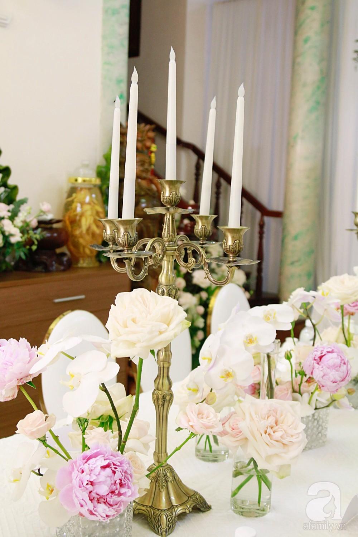 Trực tiếp đám cưới Dương Khắc Linh - Sara Lưu: Nhà cô dâu bày tiệc hoa giản dị, không phô trương - Ảnh 12.