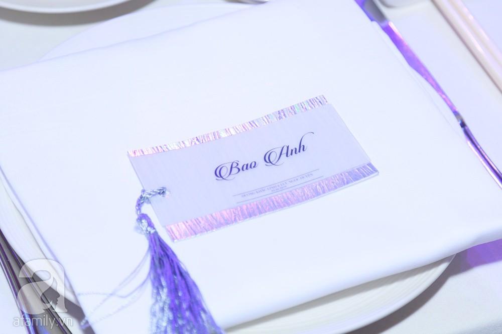 Cận cảnh không gian tiệc cưới xa hoa với thực đơn 5 sao đắt đỏ và hoa tươi tiền tỷ của Dương Khắc Linh - Sara Lưu - Ảnh 22.