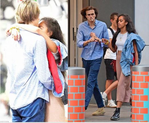 Malia-Obama-and-boyfriend-kissing-smoking-in-London