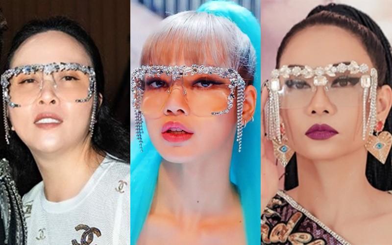 """1 chiếc kính 3 số phận: Lisa (BlackPink) đi tiên phong, Thu Minh bị tố """"đạo nhái"""", nhưng Phượng Chanel lại gây cười nhất - Ảnh 1."""