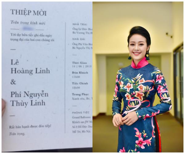 Hé lộ thiệp cưới của MC Phí Linh, danh tính chú rể vẫn là bí mật - Ảnh 1.