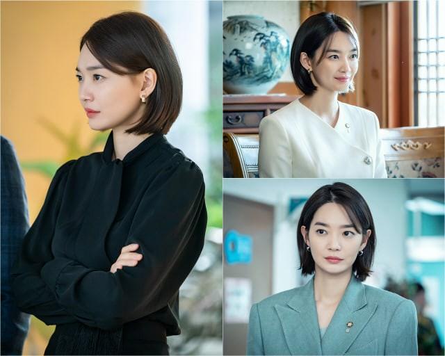 Từ khi cắt tóc ngắn, Shin Min Ah bỗng dưng hóa lạnh lùng, gai góc thế này - Ảnh 2.