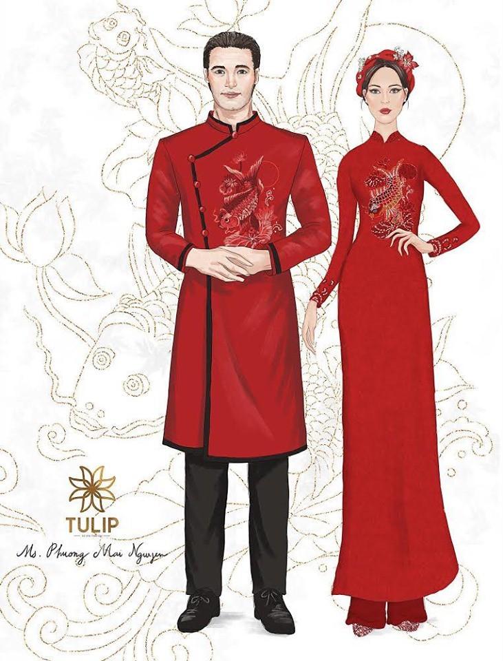 """Khoe áo đoan trang mặc trong lễ cưới, MC Phương Mai lại chia sẻ """"đòi mặc váy sexy là ăn tát liền"""" - Ảnh 1."""