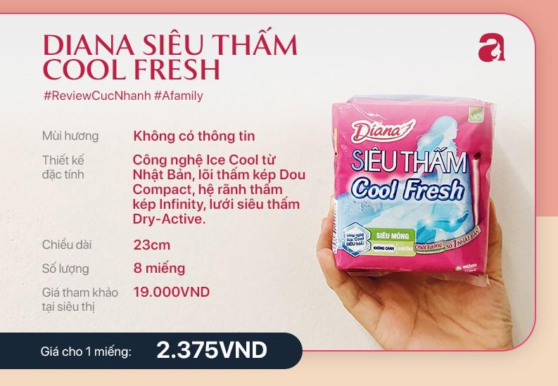 Review băng vệ sinh Diana cool fresh - Ảnh 2.