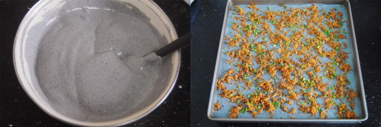 Bánh bông lan nếp cẩm cuộn chà bông - Ảnh 4.