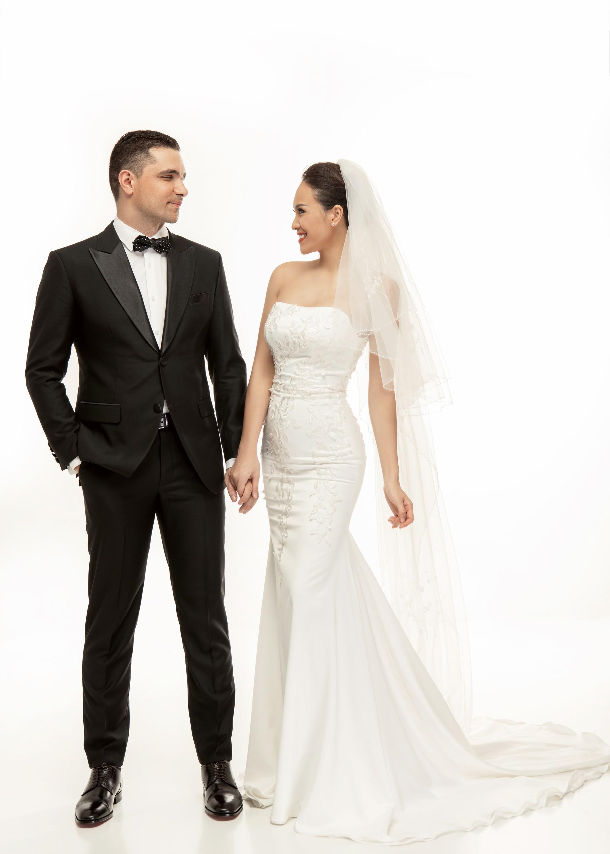 Trọn bộ ảnh cưới ngọt ngào đến tan chảy của Phương Mai và chồng Tây đẹp trai như tài tử - Ảnh 5.
