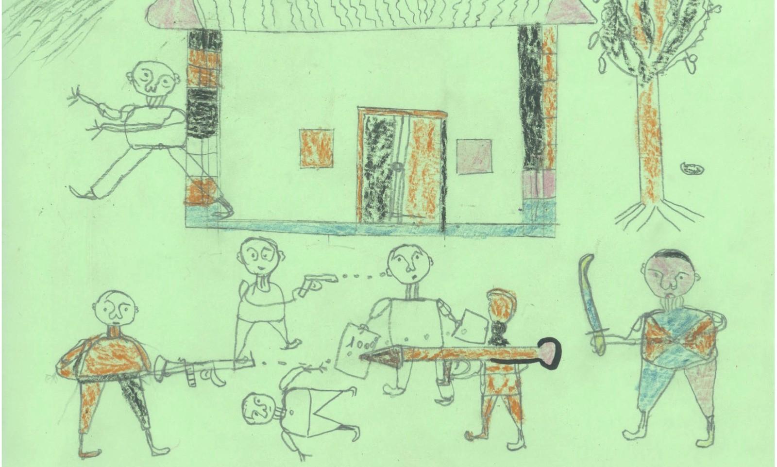 Bức tranh ám ảnh của đứa trẻ 5 tuổi treo tại siêu thị gây xôn xao MXH, vẽ về bố nhưng không khác gì lời kêu cứu trong vô vọng - Ảnh 3.