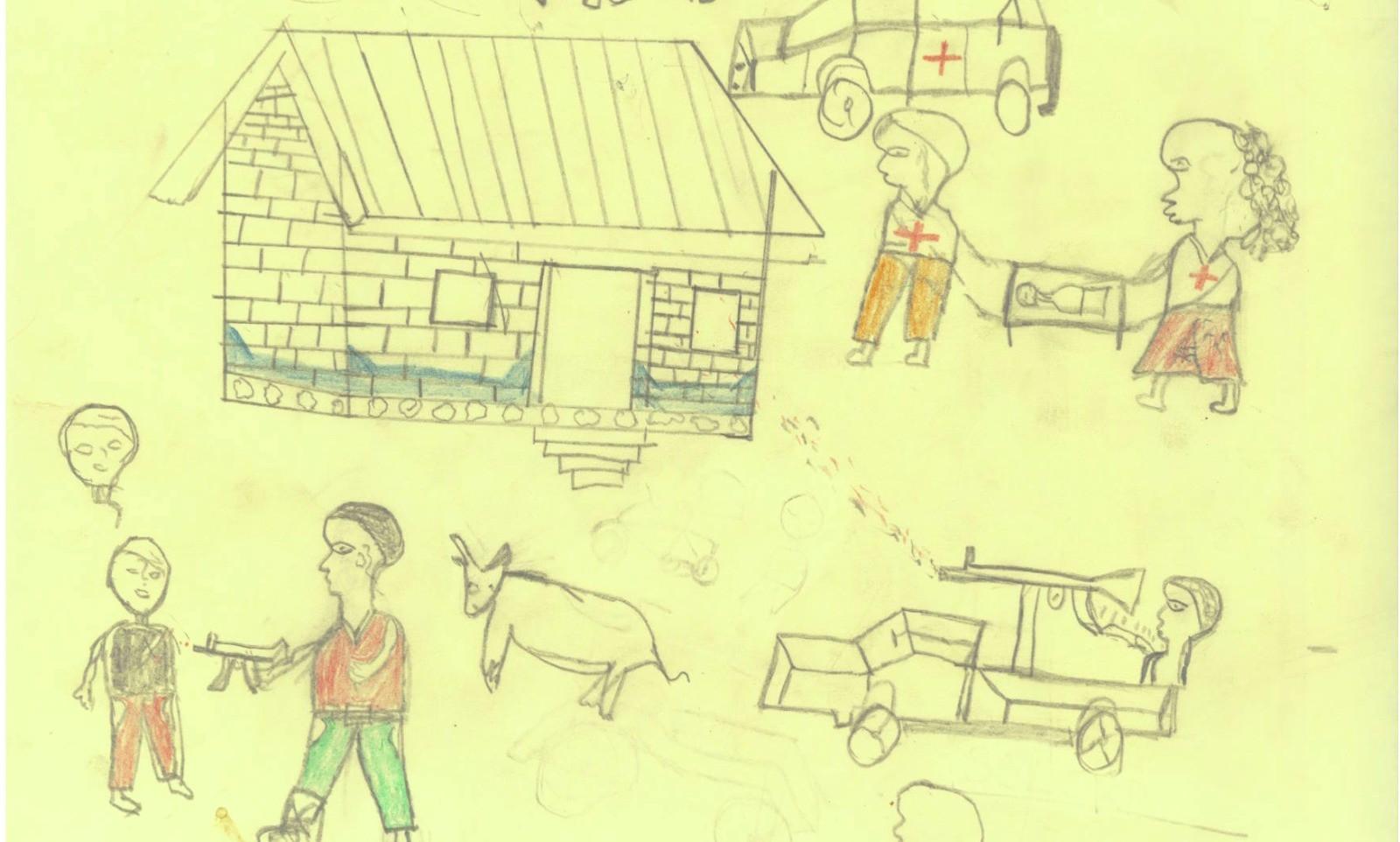 Bức tranh ám ảnh của đứa trẻ 5 tuổi treo tại siêu thị gây xôn xao MXH, vẽ về bố nhưng không khác gì lời kêu cứu trong vô vọng - Ảnh 4.