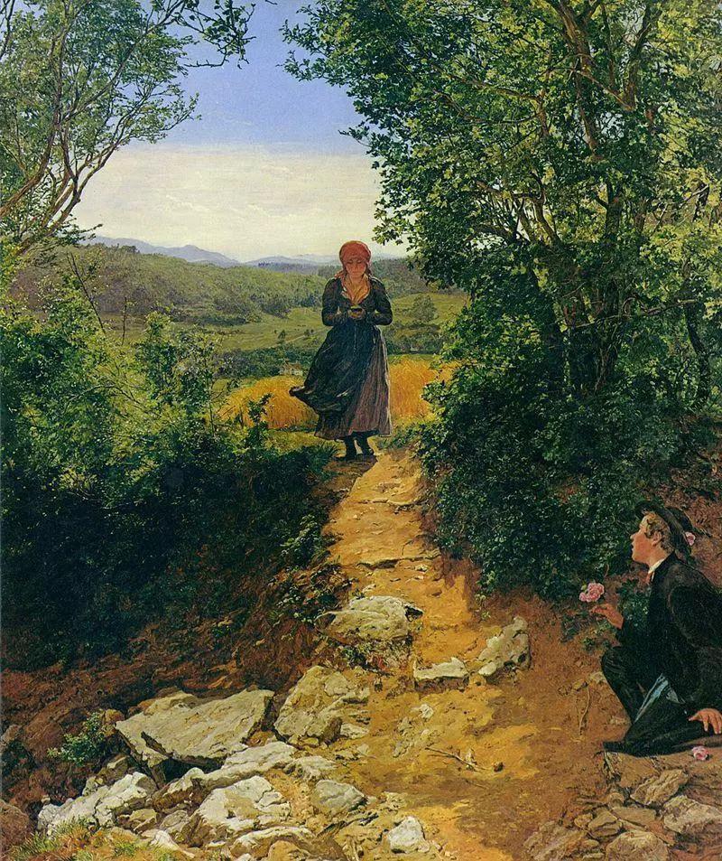 Sự thật về bức tranh cô gái cắm mặt vào điện thoại vào năm 1850 gây xôn xao: Có hay không giả thiết xuyên không? - Ảnh 1.
