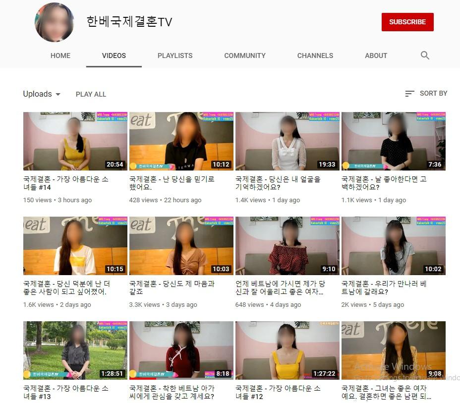 Youtube tràn lan clip tự giới thiệu của cô dâu Việt muốn lấy chồng Hàn, chấp nhận bị trưng bày như hàng hóa để có được cơ hội đổi đời - Ảnh 1.