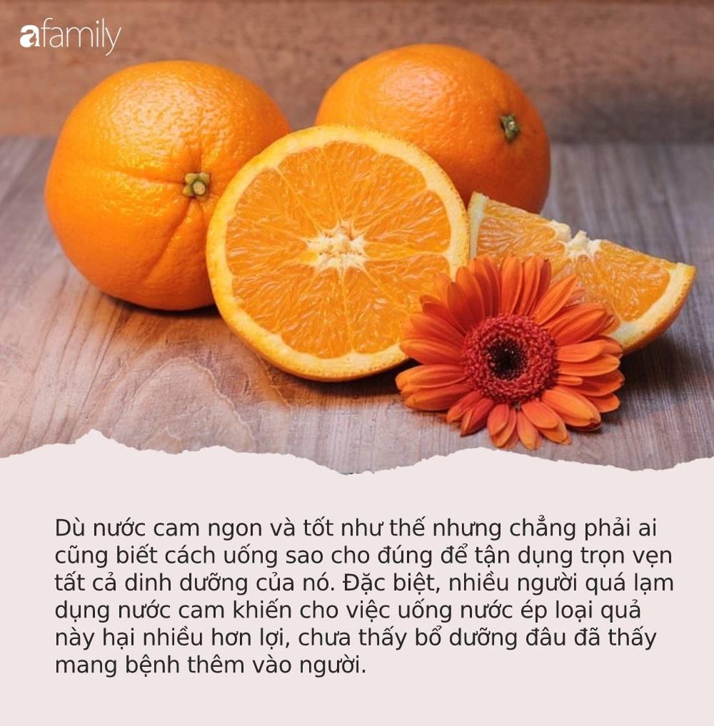 1 ly nước cam bằng 1 thang thuốc bổ nhưng phải nhớ những điều cấm kỵ này kẻo tự rước bệnh mà không biết - Ảnh 1.