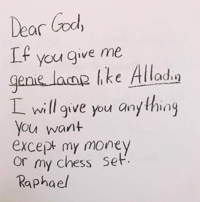 Cười ngất với những bức thư gửi Chúa ngộ nghĩnh của học sinh lớp 3 - Ảnh 11.
