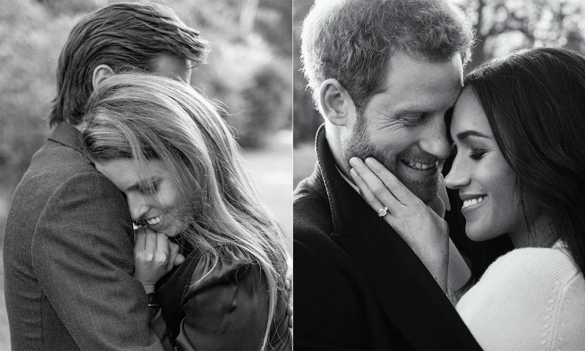 beatrice-and-meghan-engagement-pictures-compared-t