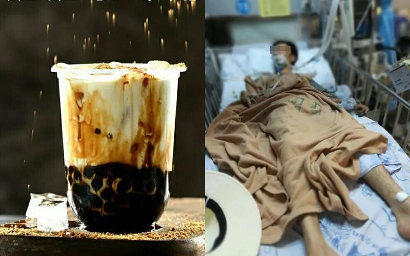 Chàng trai thú nhận đã uống nhiều trà sữa vì nghĩ rằng mình bị mất nước.