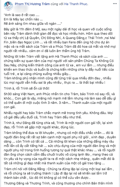 """Thái Trinh bật khóc bỏ về khiến họp báo bị """"phá nát"""", Hương Tràm đáp trả làm lộ lý do chia tay là lỗi ở Quang Đăng - Ảnh 4."""