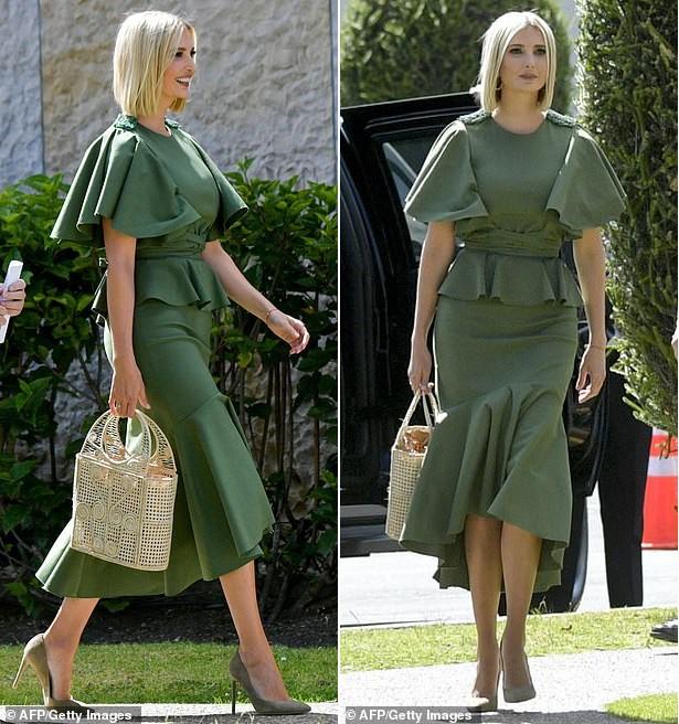 Bao điểm thời trang sang chảnh của ái nữ Tổng thống Trump bỗng bay biến sạch sẽ chỉ vì một cơn gió vô tình - Ảnh 2.
