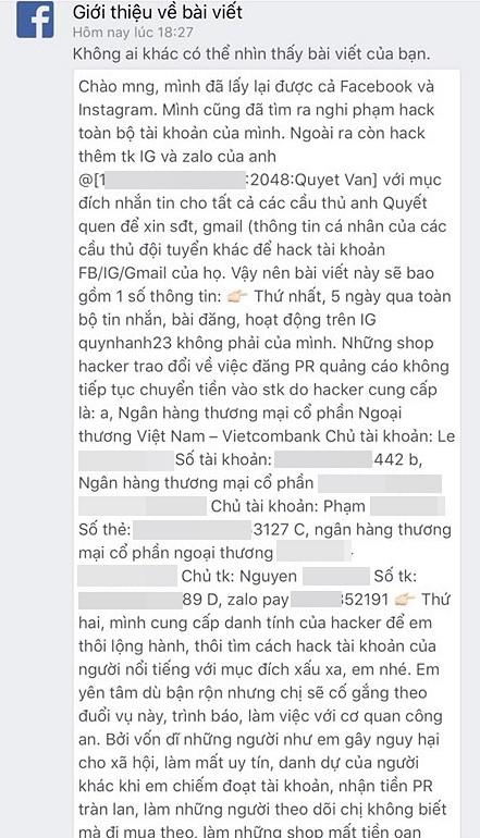 Bạn gái Duy Mạnh mất tài khoản 5 ngày, hacker lấy được món tiền lớn, nhưng thái độ cực gắt của Quỳnh Anh mới đáng chú ý - Ảnh 2.
