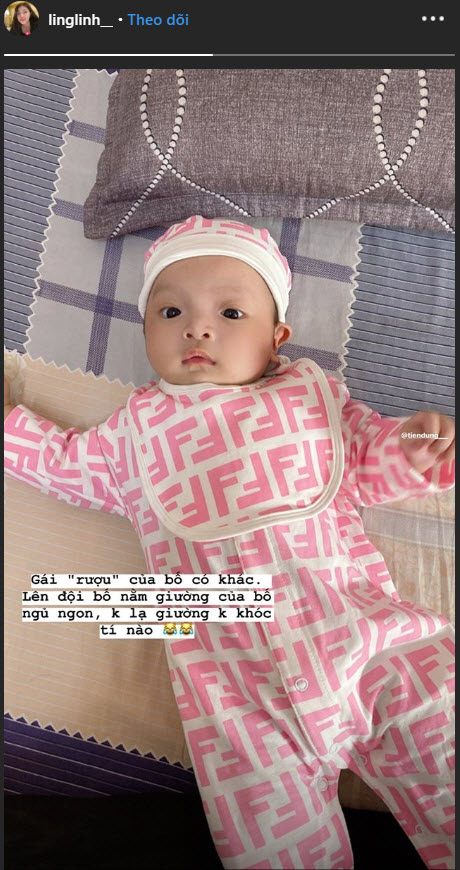 Con gái cầu thủ Bùi Tiến Dũng mới 2 tháng tuổi nhưng đã diện đồ hiệu đầy người: Rich Kid là đây chứ đâu - Ảnh 2.