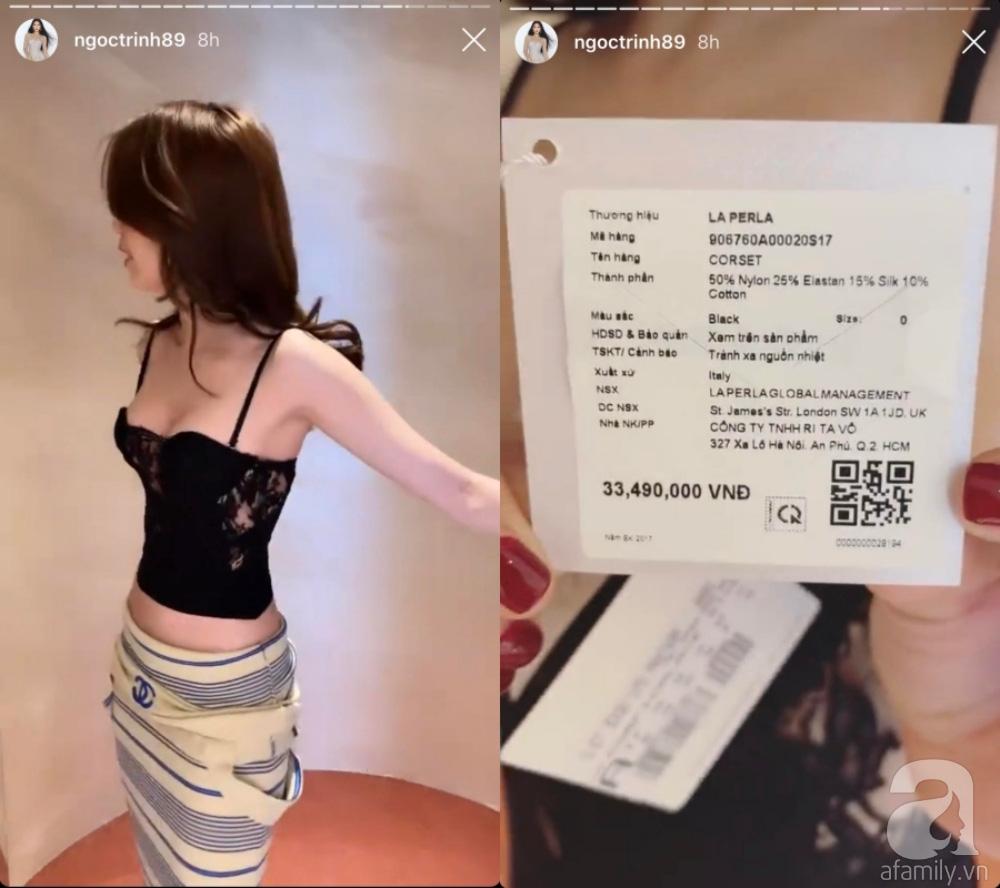"""Sau vụ tố dùng hàng fake, Ngọc Trinh """"thả nhẹ"""" đoạn clip thử  nội y giá hơn 33 triệu và còn bất ngờ hơn khi cô mặc size 0 còn rộng  - Ảnh 1."""