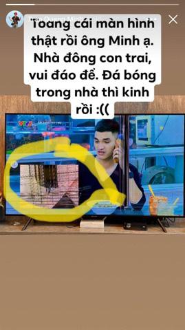 Tết nhất đến nơi MC Quang Minh buồn thiu than trời vì tivi vỡ toang màn hình, nguyên nhân hóa ra do 3 cậu quý tử - Ảnh 2.