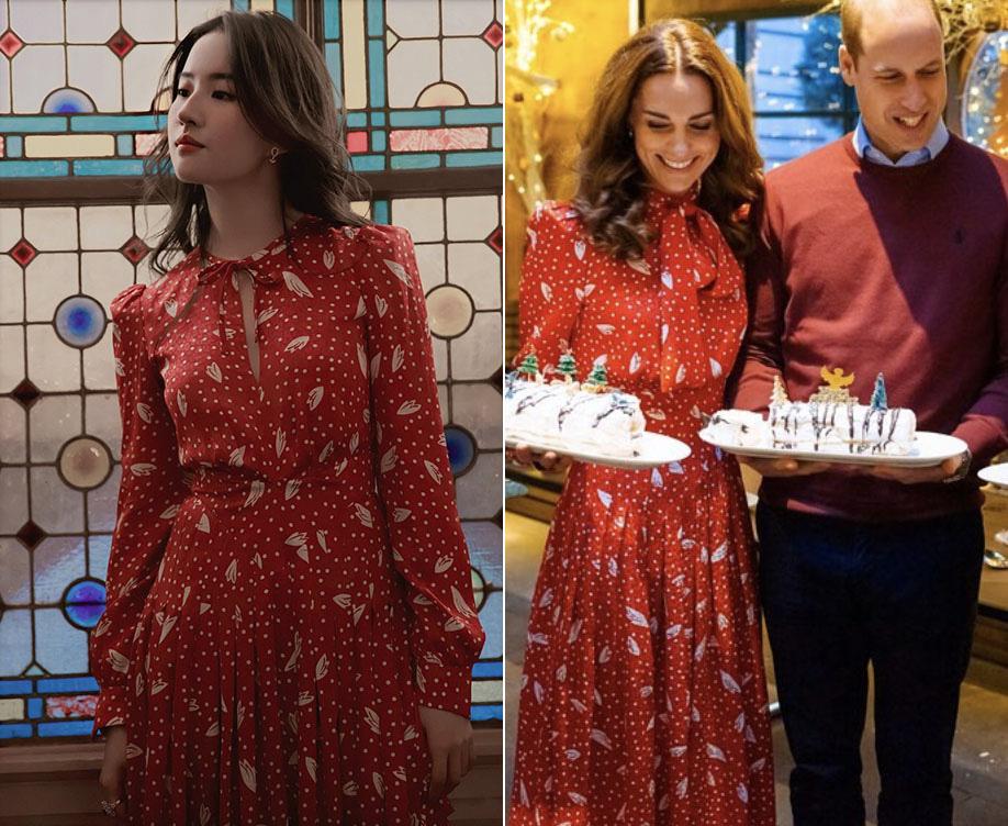 Cùng 1 mẫu váy: Lưu Diệc Phi đẹp như nữ nhân Hoàng gia, Công nương Kate sửa váy tinh tế để tránh sexy - Ảnh 5.