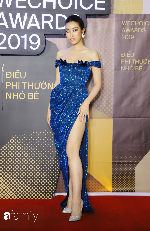 Không hẹn mà gặp, cả dàn Bông hậu Vbiz rủ nhau diện tông màu xanh hottrend trên thảm đỏ Wechoice 2019 - Ảnh 1.