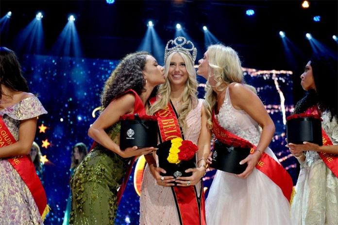 Người đẹp vấp ngã trên sân khấu đến văng cả áo lót, vẫn xuất sắc đăng quang Hoa hậu Bỉ - Ảnh 2.